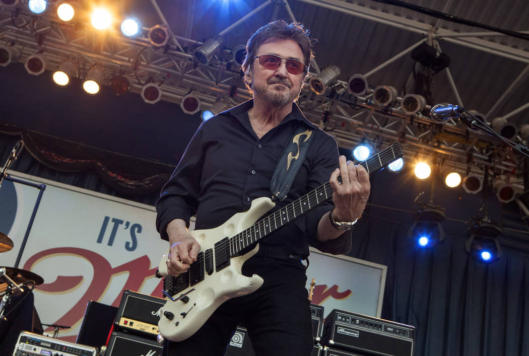 """Donald Brian """"Buck Dharma"""" Roeser of Blue Öyster Cult performs at the Harley-Dav ..."""