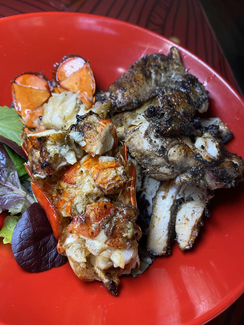 Grilled lobster and jerk chicken at Big Jerk (Big Jerk)