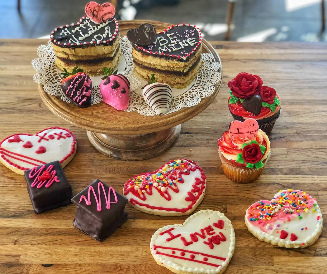 A selection of Valentine's-themed treats at La Belle Terre. (La Belle Terre Bakery & Cafe)