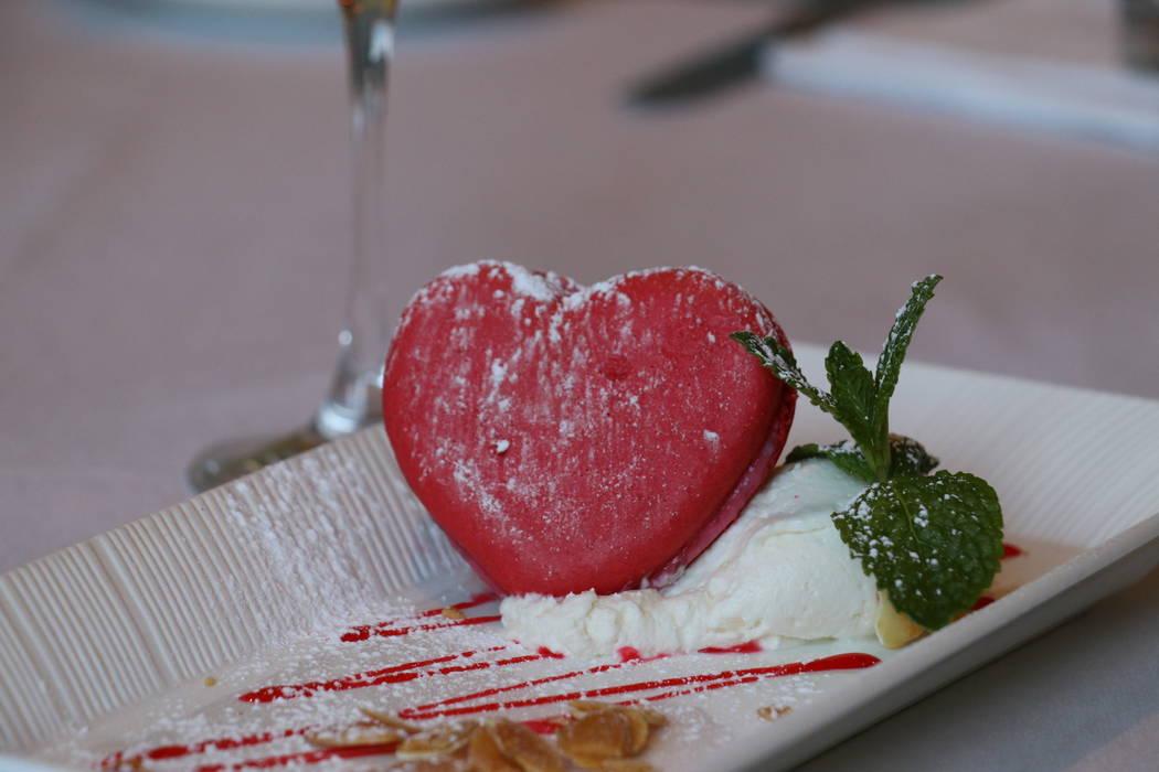 Heart-shaped macaron at Morels Steakhouse & Bistro (Morels Steakhouse & Bistro)