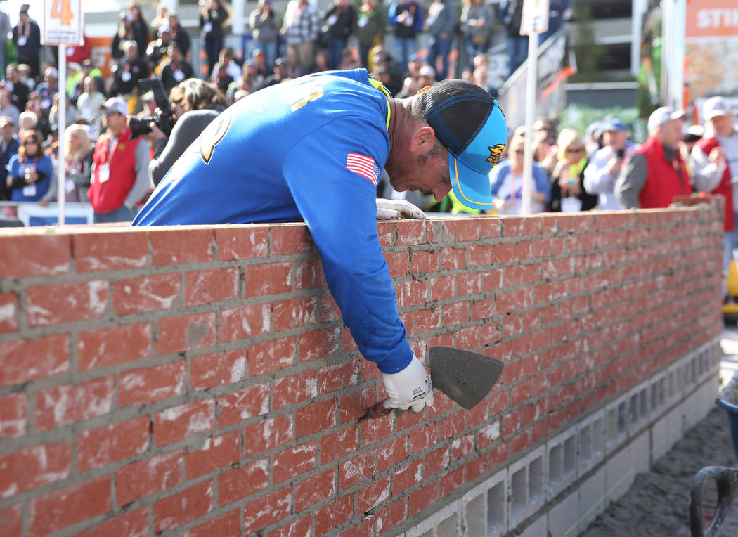 Cole Stamper, of Wheatley, Ky., participates in the 2020 Spec Mix Bricklayer 500 competition du ...