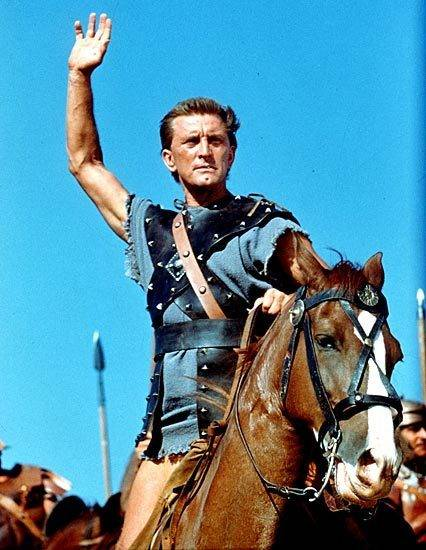 """Kirk Douglas purchased the film rights to the novel """"Spartacus"""" and starred in the 1960 adaptat ..."""
