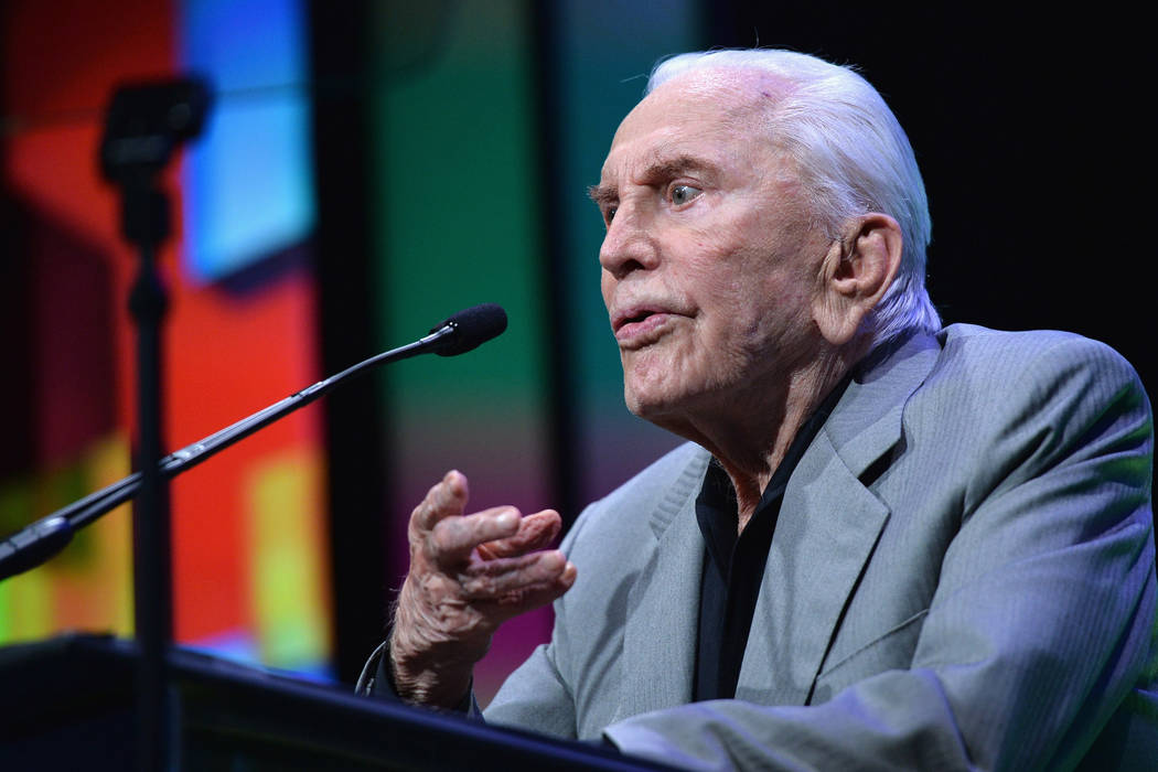 Actor Kirk Douglas on May 8, 2013 in Beverly Hills, California. (Alberto E. Rodriguez/Getty Im ...