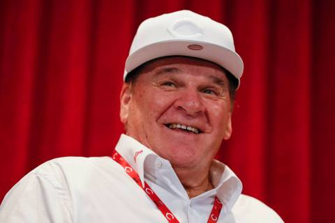 FILE - In this June 17, 2017, file photo, former Cincinnati Reds player Pete Rose attends a new ...