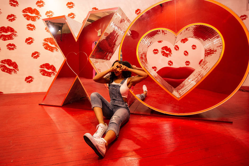 Happy Place selfie pop-up experience at The Shoppes at Mandalay Bay is hosting a Galentine's ...