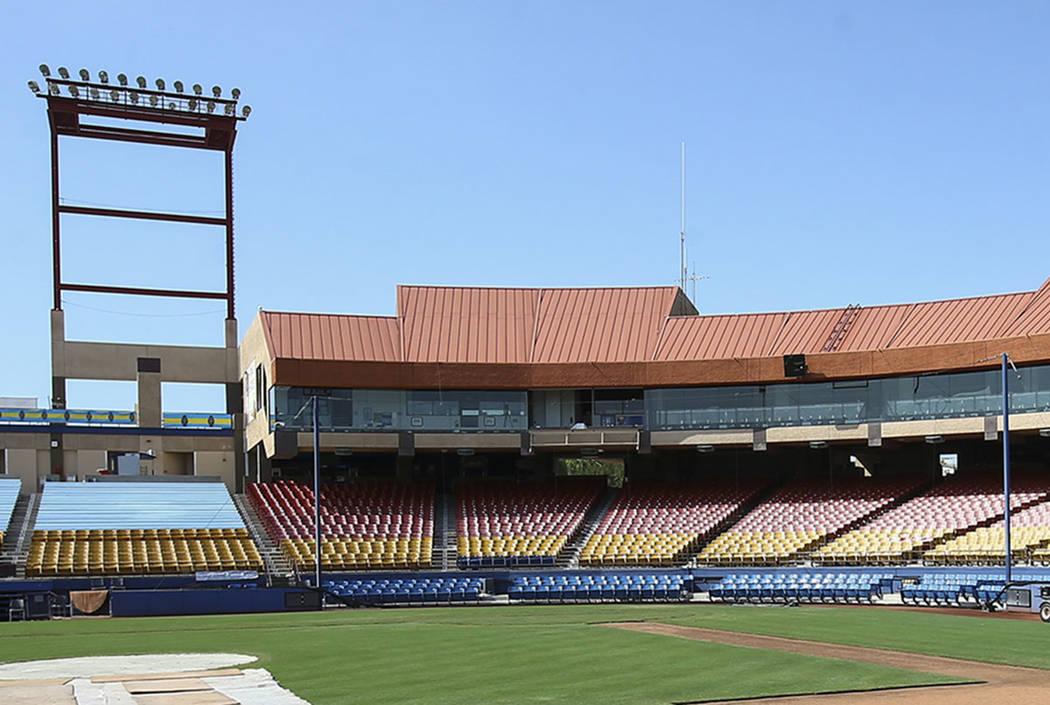 Cashman Field in Las Vegas (Chase Stevens Las Vegas Review-Journal)