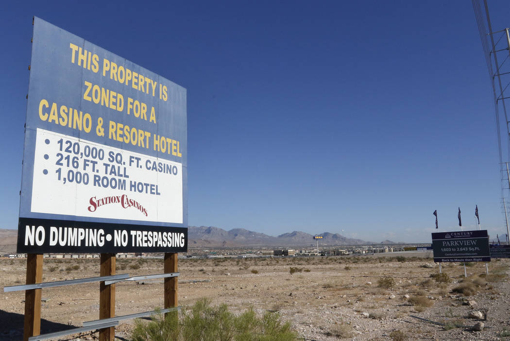 A vacant land photographed on Friday, Aug. 18, 2017, owned by Station Casinos on Durango Drive ...