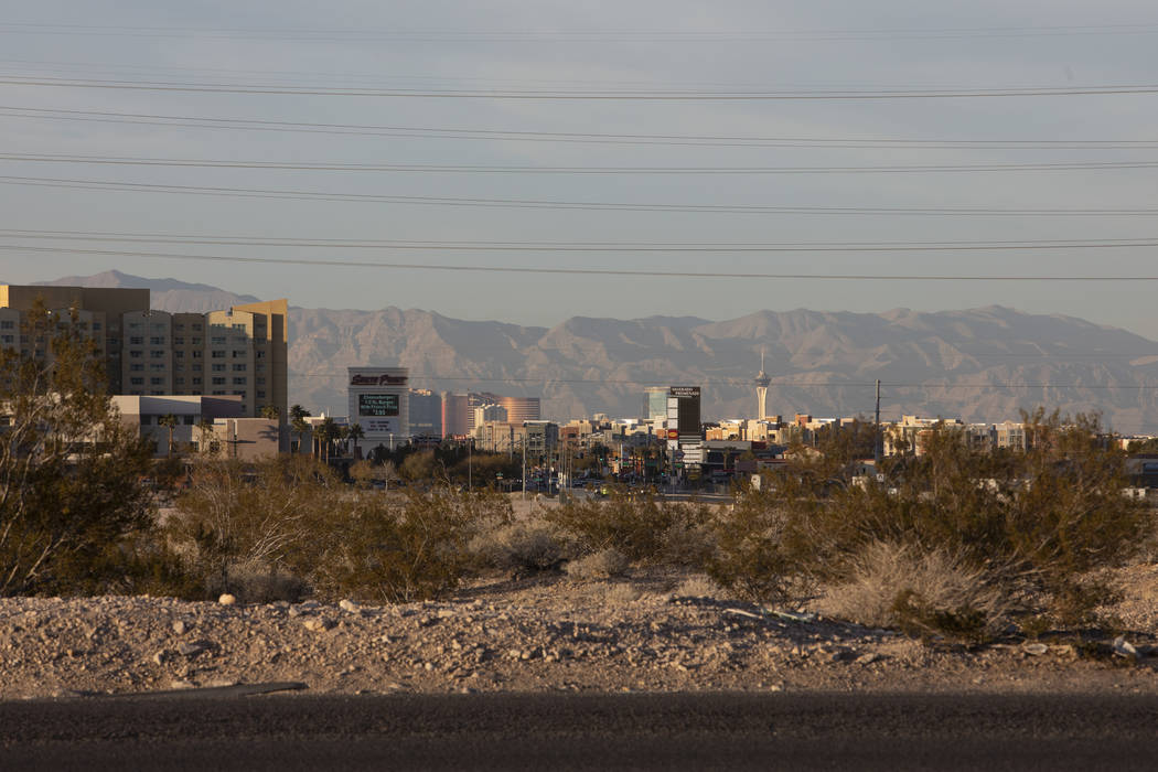 A roughly 57-acre property at the northwest corner of Las Vegas Boulevard and Cactus Avenue, ow ...