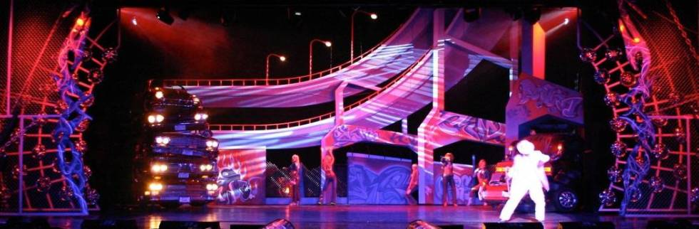"The Andy Walmsley-designed ""Headlights & Tailpipes"" is shown performing at Stardust, where it r ..."
