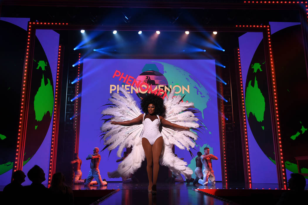 """Asia O'Hara of """"RuPaul's Drag Race Live!"""" is shown performing at Flamingo Showroom. Emmy Award- ..."""