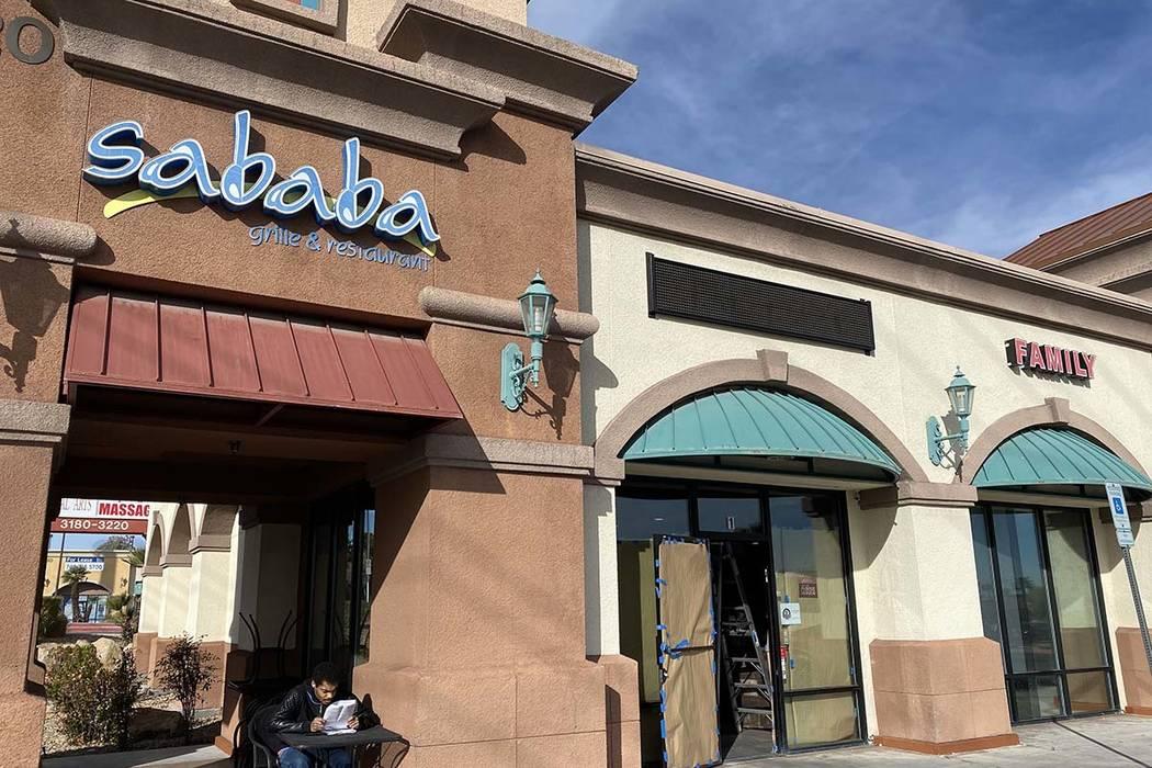 Sababa on Durango Drive has closed. (Al Mancini/Las Vegas Review-Journal)