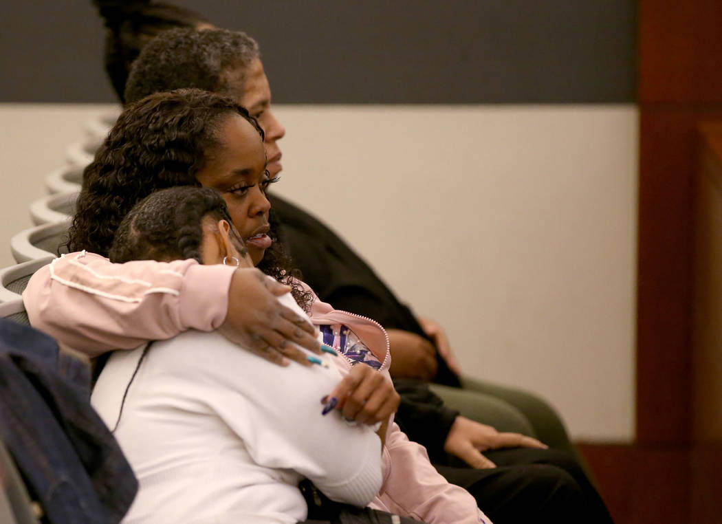 Loved ones of Ray Charles Brown listen to testimony during the penalty phase of his capital tri ...