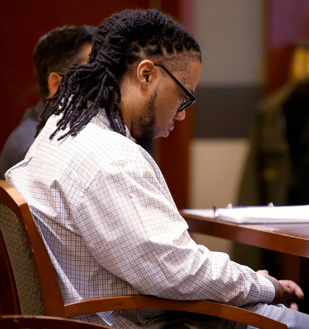 Ray Charles Brown cries as a hate letter he received is read during the penalty phase of his ca ...