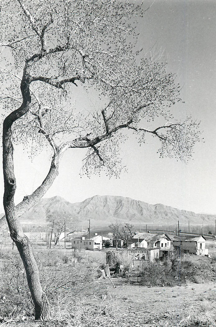 The Keil Ranch settlement is viewed from a hill in April 1996. (Las Vegas Review-Journal file)