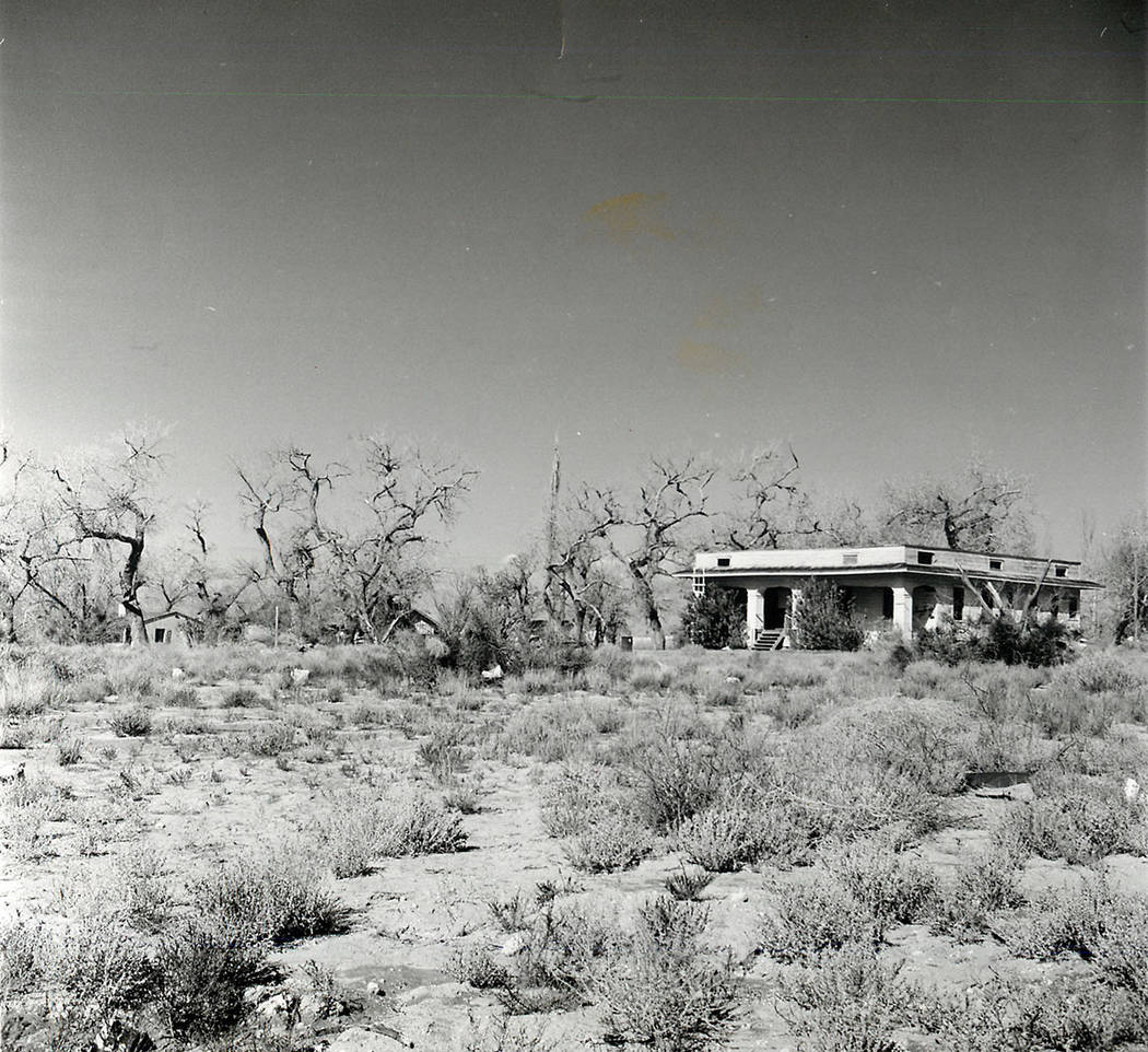 The Keil Ranch park mansion is seen in 1991. (Las Vegas Review-Journal file)