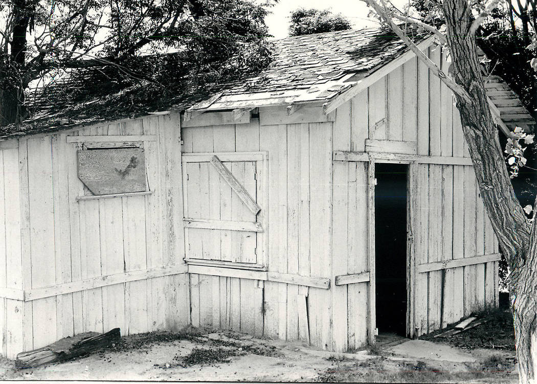 This structure, seen in July 1986, was built by Conrad Kiel for his daughters to play in. It ha ...