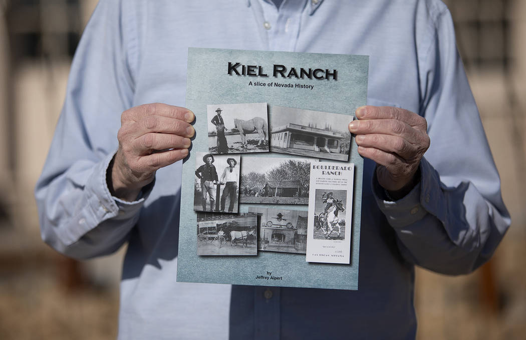 Jeff Alpert holds his new book, Kiel Ranch: A slice of Nevada history, on Thursday, Jan. 16, 20 ...