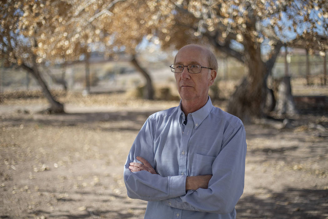 Jeff Alpert, author of Kiel Ranch: A slice of Nevada history, poses for a portrait in front of ...