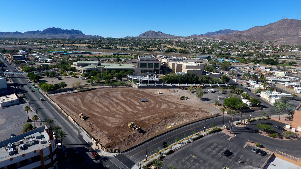 Site preparation begins for the new $25 million Henderson Community Ice Hockey Facility at the ...