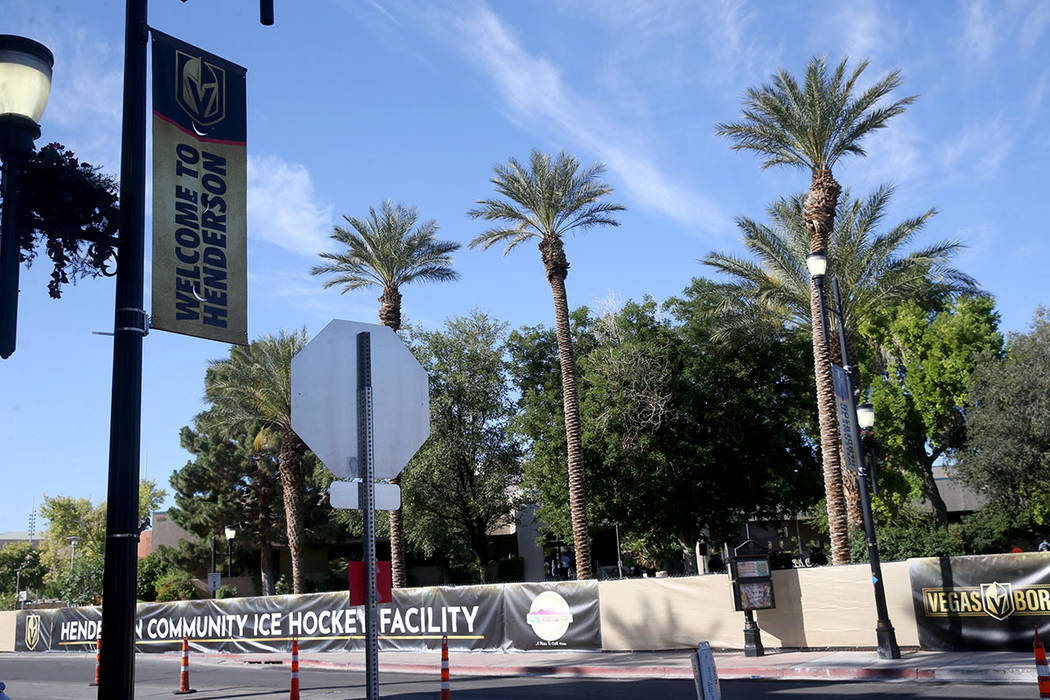 The Henderson Convention Center before a demolition ceremony to promote the Vegas Golden Knight ...