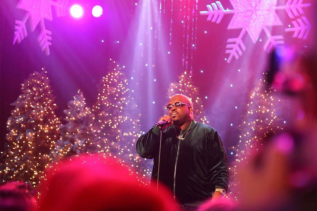 Rapper CeeLo Green performs at the annual Hollywood Christmas Parade in Los Angeles on Sunday, ...