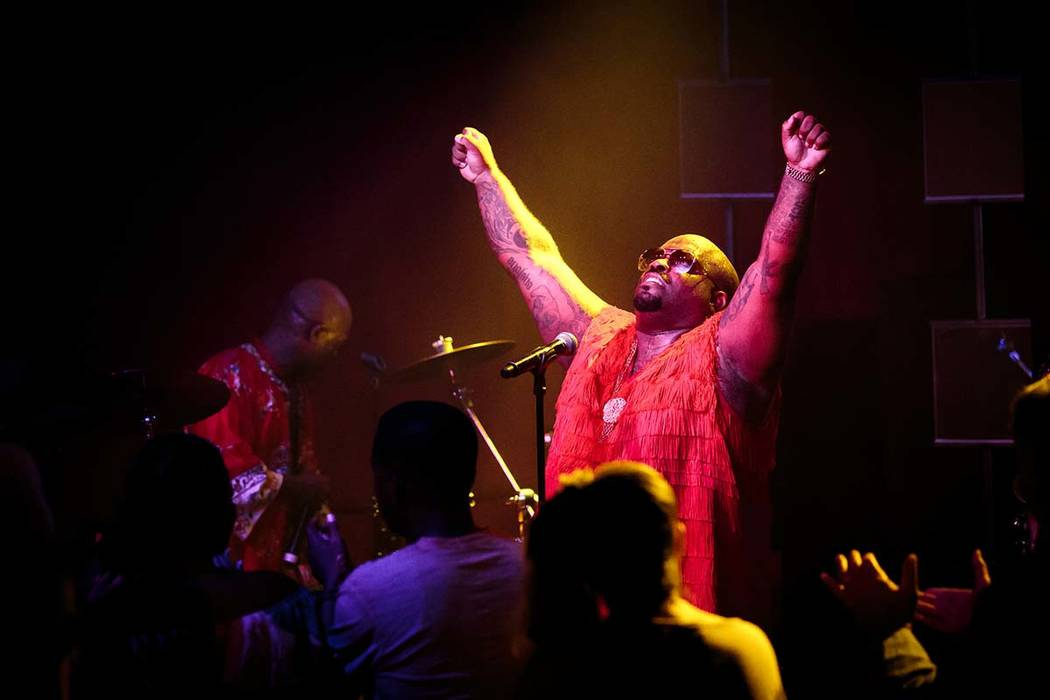 CeeLo Green is shown performing at Cleopatra's Barge at Caesars Palace on Friday, July 21, 2013 ...
