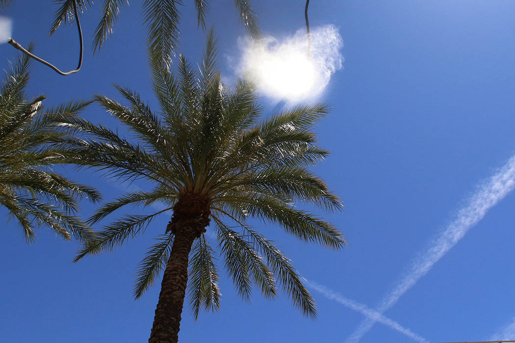 Saturday is expected to be sunny and warm, but a cold front moving into the Las Vegas Valley on ...