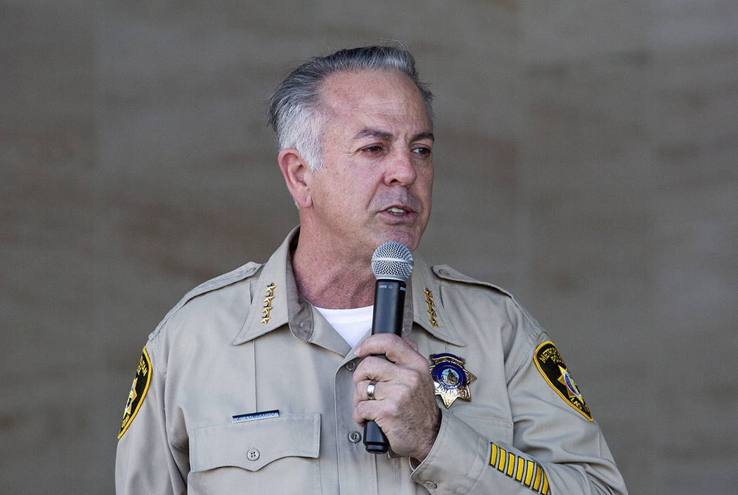 Sheriff Joseph Lombardo (Elizabeth Page Brumley /Las Vegas Review-Journal)