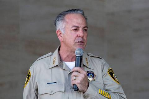 Sheriff Joseph Lombardo (Elizabeth Page Brumley /Las Vegas Review-Journal)
