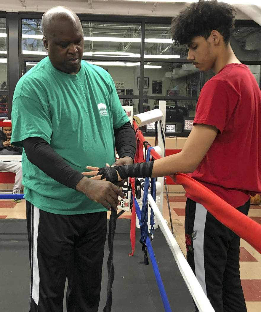 """In this Tuesday, Feb. 4, 2020 photo, James """"Buster"""" Douglas, the former world heavywe ..."""
