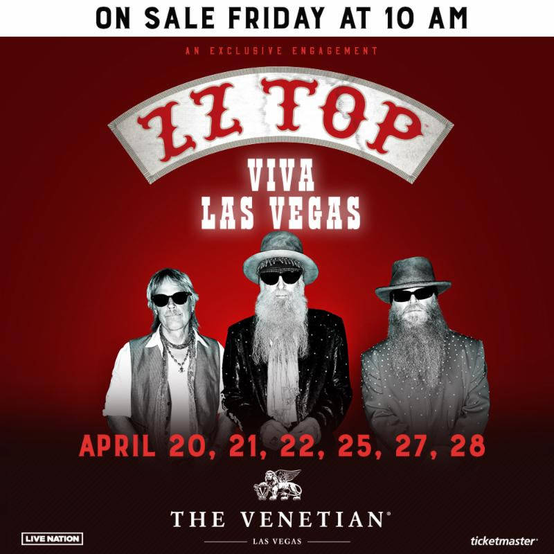 A promotional image for ZZ Top's five-show engagement at The Venetian Theater in April. (Live N ...