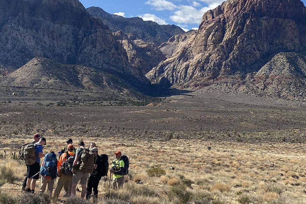 Search for missing hiker at Red Rock Canyon, Feb. 10, 2020. (Glenn Puit/Las Vegas Review-Journal)