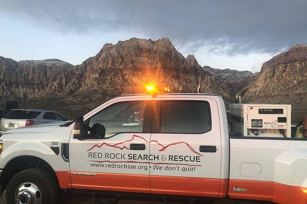 RedRockSearch&Rescue is involved in the search for a missing hiker at Red Rock Canyon N ...