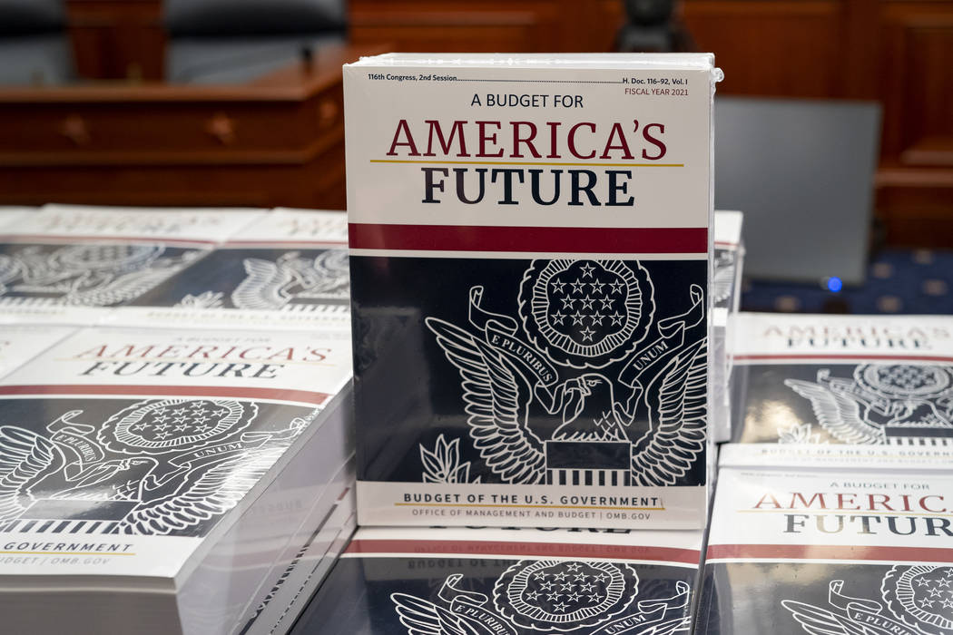 President Donald Trump's budget request for fiscal year 2021 arrives at the House Budget Commit ...