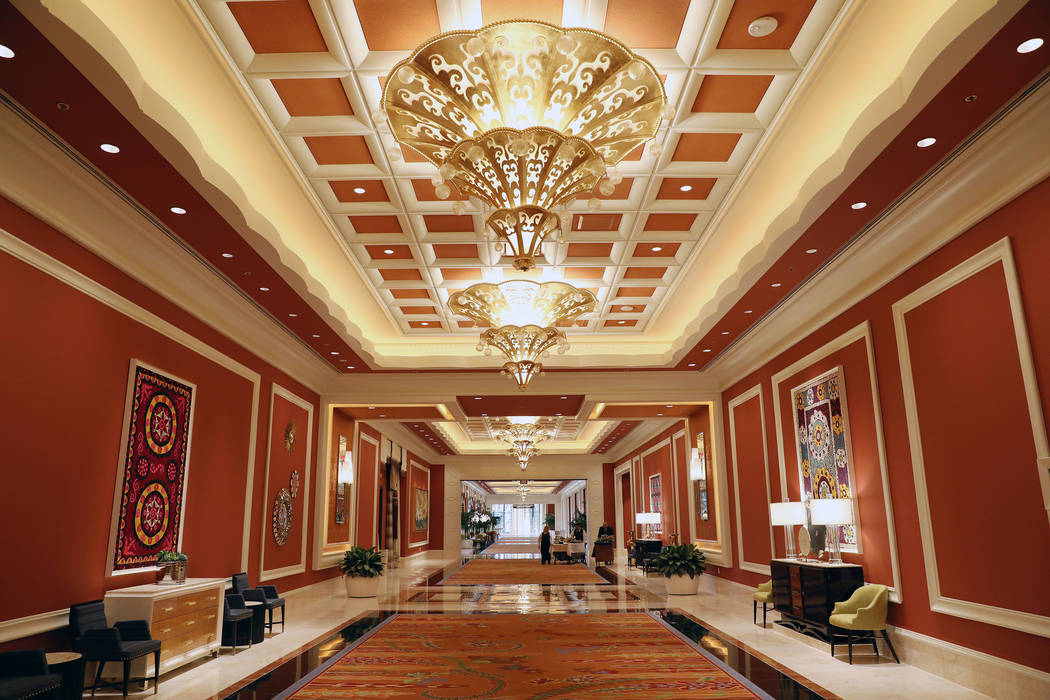 The Wynn Las Vegas Conference Center entrance is seen on Monday, Feb. 10, 2020, at the Wynn in ...