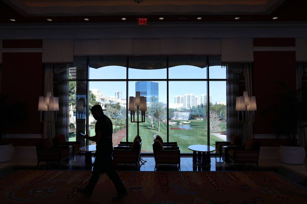One of the many views seen from the Wynn Las Vegas Conference Center, on Monday, Feb. 10, 2020, ...
