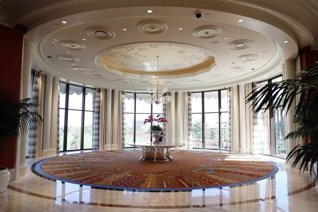 The level two rotunda is seen at the Wynn Las Vegas Conference Center on Monday, Feb. 10, 2020, ...