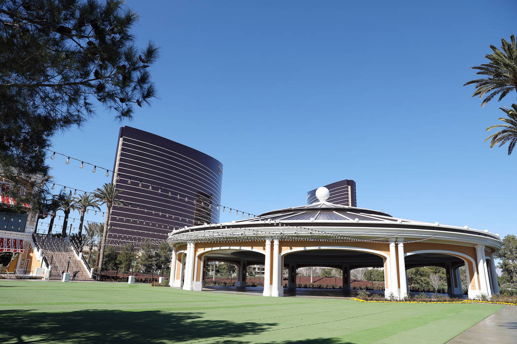 The Wynn Las Vegas Conference Center's pavilion is seen on Monday, Feb. 10, 2020, at the Wynn i ...