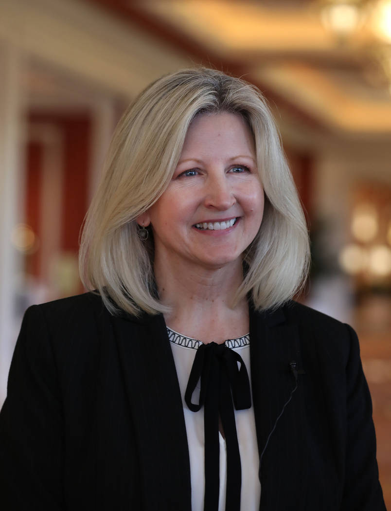 Chris Flatt, executive vice president of hotel sales and marketing at Wynn Las Vegas, is interv ...