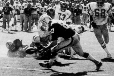 FILE - In this Sept. 10, 1078, file photo, in the final play of the game between the Oakland Ra ...