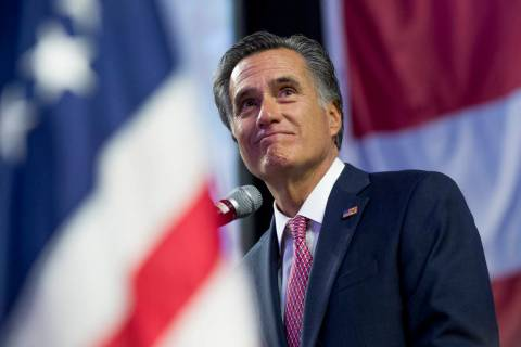 Mitt Romney. (Leah Hogsten/The Salt Lake Tribune via AP, File)