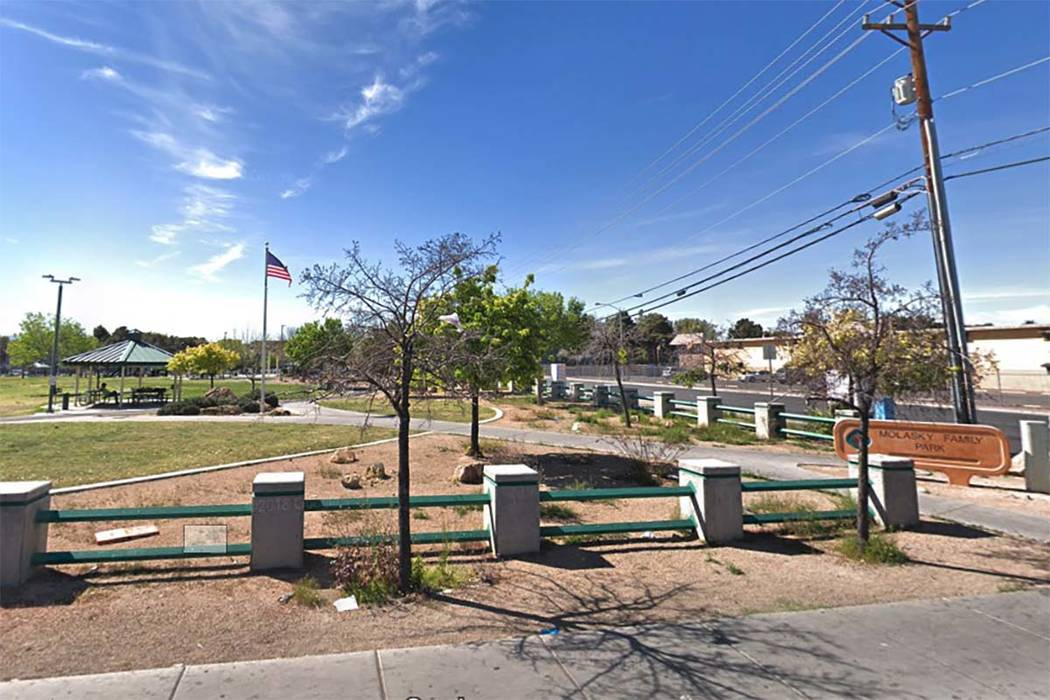 Molasky Park, 1065 E. Twain Ave. (Google Street View)