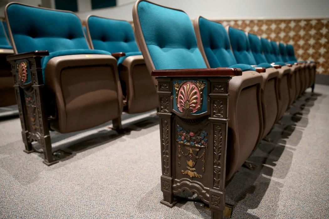 "Seats at Las Vegas Academy's old ""auditorium"" after the Las Vegas High School Alumni ..."
