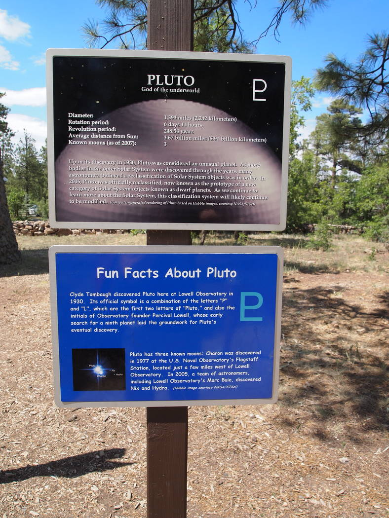 Signs at Lowell Observatory (Carri Geer Thevenot)