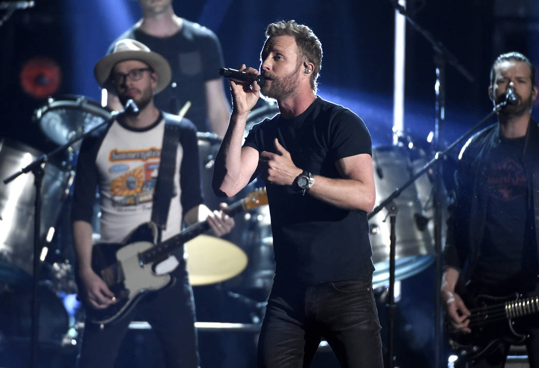 "Dierks Bentley performs ""Woman, Amen"" at the 53rd annual Academy of Country Music Awa ..."