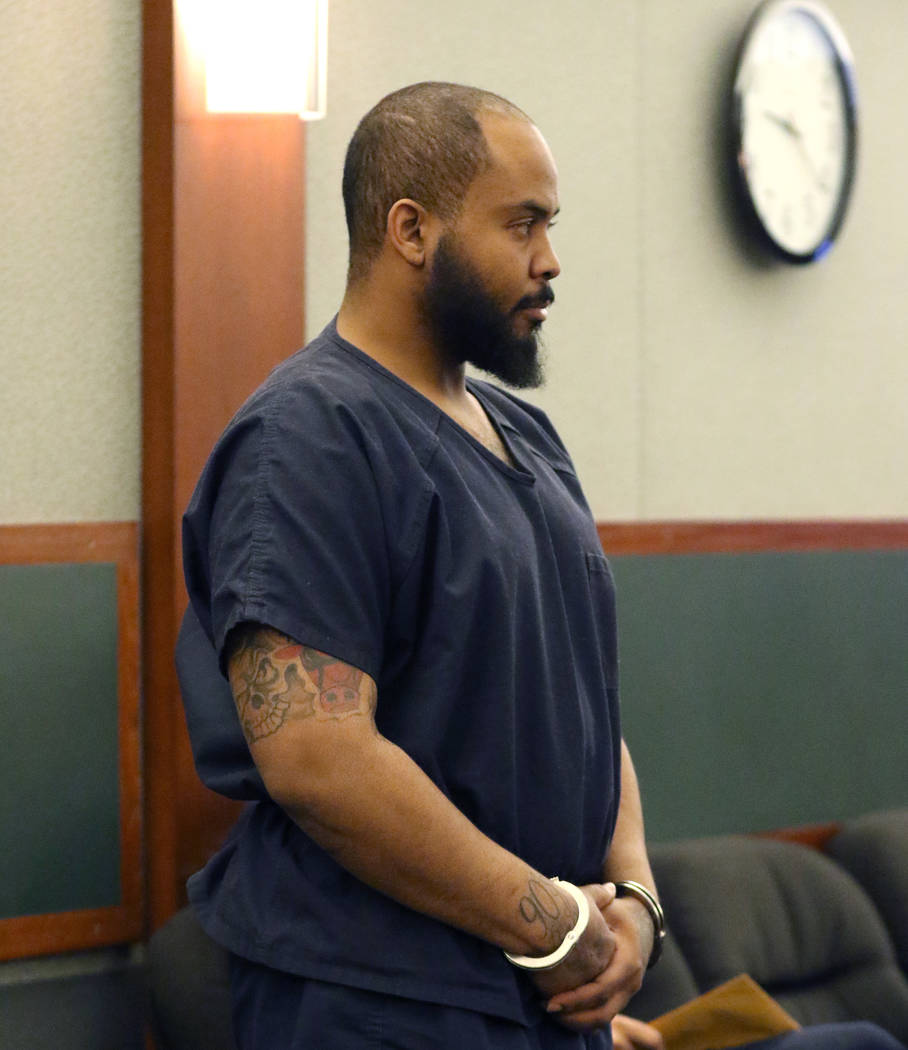 Johnny Brooks, the lone surviving victim of a shooting that left two dead, appears in court on ...