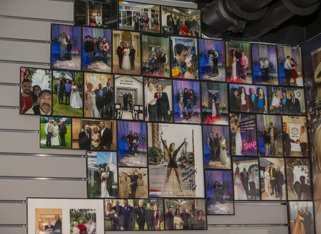 Photos of some of the people who have had ceremonies at the Chapels at the Pawn operated by Rev ...