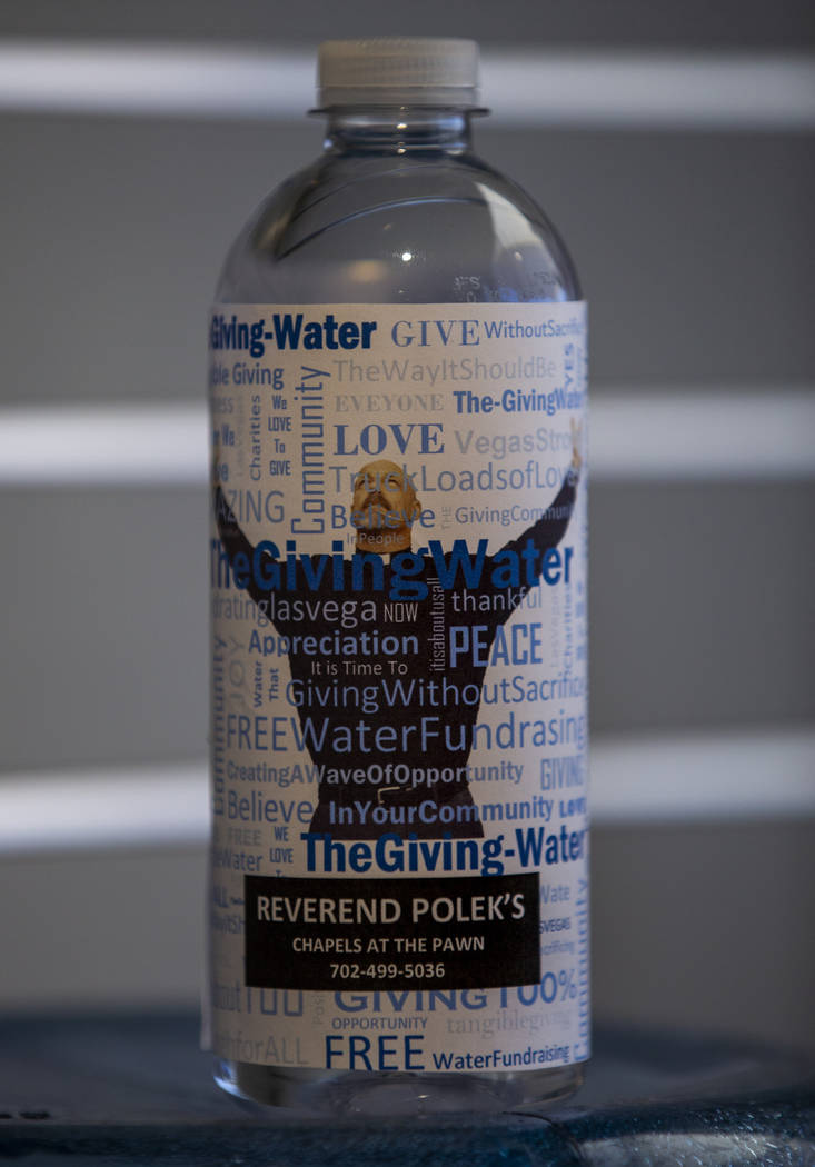 Rev. Scott Polek with the Chapels at the Pawn is now on bottles of water from The Giving Water ...
