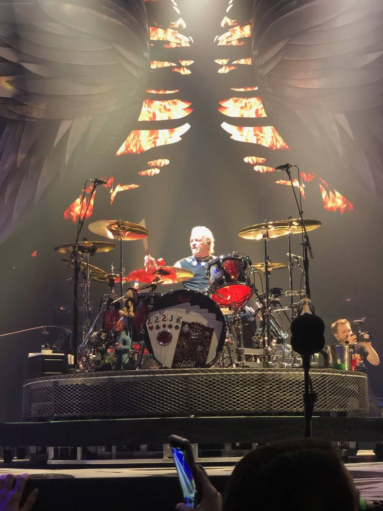 Aerosmith founding drummer Joey Kramer is shown in his return to Park Theater after a seven-mon ...