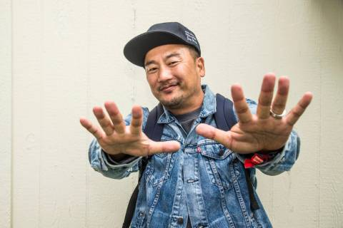 Roy Choi poses at 2017 Outside Lands Music Festival at Golden Gate Park on Friday, Aug. 11, 201 ...